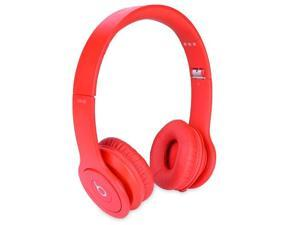 Beats by Dr. Dre Solo HD Foldable On-Ear Stereo Headphones w/Detachable Inline Remote/Mic 3.5mm Cable & Case (Red)