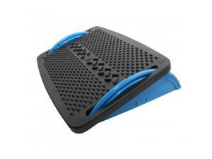 IO Crest Ergonomic Floating Tilt Foot Rest Textured Surface Reduce Muscle Strain, Black Blue (SY-ACC65076)