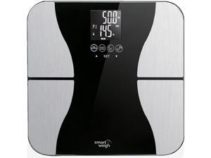 Smart Weigh Precision Body Fat Digital BMI Bathroom Scale Tempered Glass 440lbs