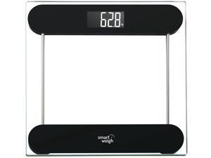 "Smart Weigh Precision Digital Bathroom Scale w/ ""Smart Step-On"" Tech - Black"