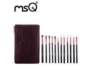 MSQ12pcs Makeup Brushes Set Rose Gold Make Up Brushes Soft Animal or Synthetic Hair For Beauty