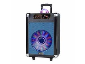 """12"""" Rechrgbl Bluetooth DJ Speaker Blue - IQ-3612DJBTBLU"""