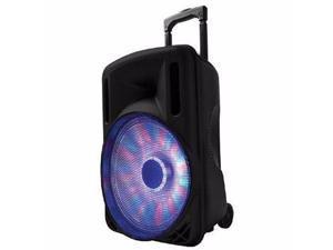 """12"""" Portable Bluetooth DJ Speaker Blk - IQ-3212DJBTBLK"""