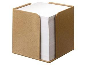 Brown Memo Cube with 700 Sheets, 100% Biodegradable and Compostable Materials (Box of 1)
