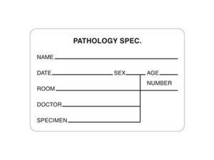 "Pathology Spec. 3"" x 2"" White Label (Roll of 320)"