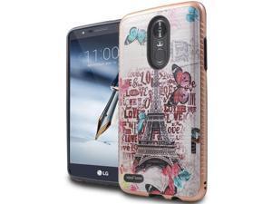 For LG Stylo 3 / Stylo 3 Plus - Brushed 3D Image Design Case - Paris Love