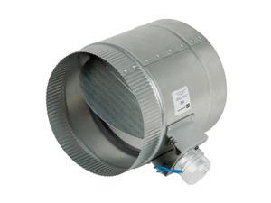 8-Inch Diameter Normally Open Electronic HVAC Air Duct Damper with Power Supply