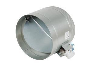 10-Inch Diameter Normally Open Electronic HVAC Air Duct Damper with Power Supply