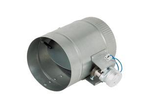 6-Inch Diameter Normally Open Electronic HVAC Air Duct Damper with Power Supply