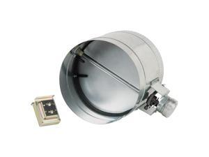 8-Inch Diameter Normally Closed Electronic HVAC Air Duct Damper with Power Suppl