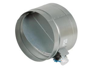 12-Inch Diameter Normally Open Electronic HVAC Air Duct Damper with Power Supply