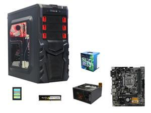 Intel Core i5-6500 Skylake Quad-Core 3.60GHz Desktop Processor + ASUS Micro ATX Intel Motherboards + LOGISYS Computer Case + Rosewill Glacier Power Supply + Avexir Budget Pro 8GB Desktop Memory + 120GB SATA III TLC Internal SSD