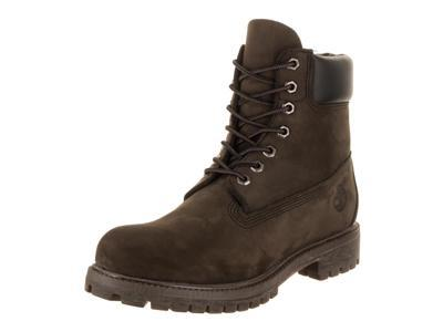 "Timberland Men's Classic 6"" Premium Boot, Dark Brown Nubuck 8.5 M US"