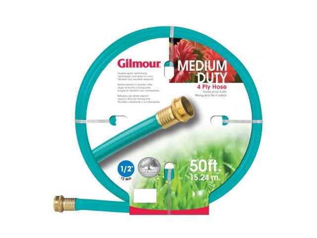 """Gilmour 1/2"""" x 50' 4 Ply Medium Duty Garden Hose"""