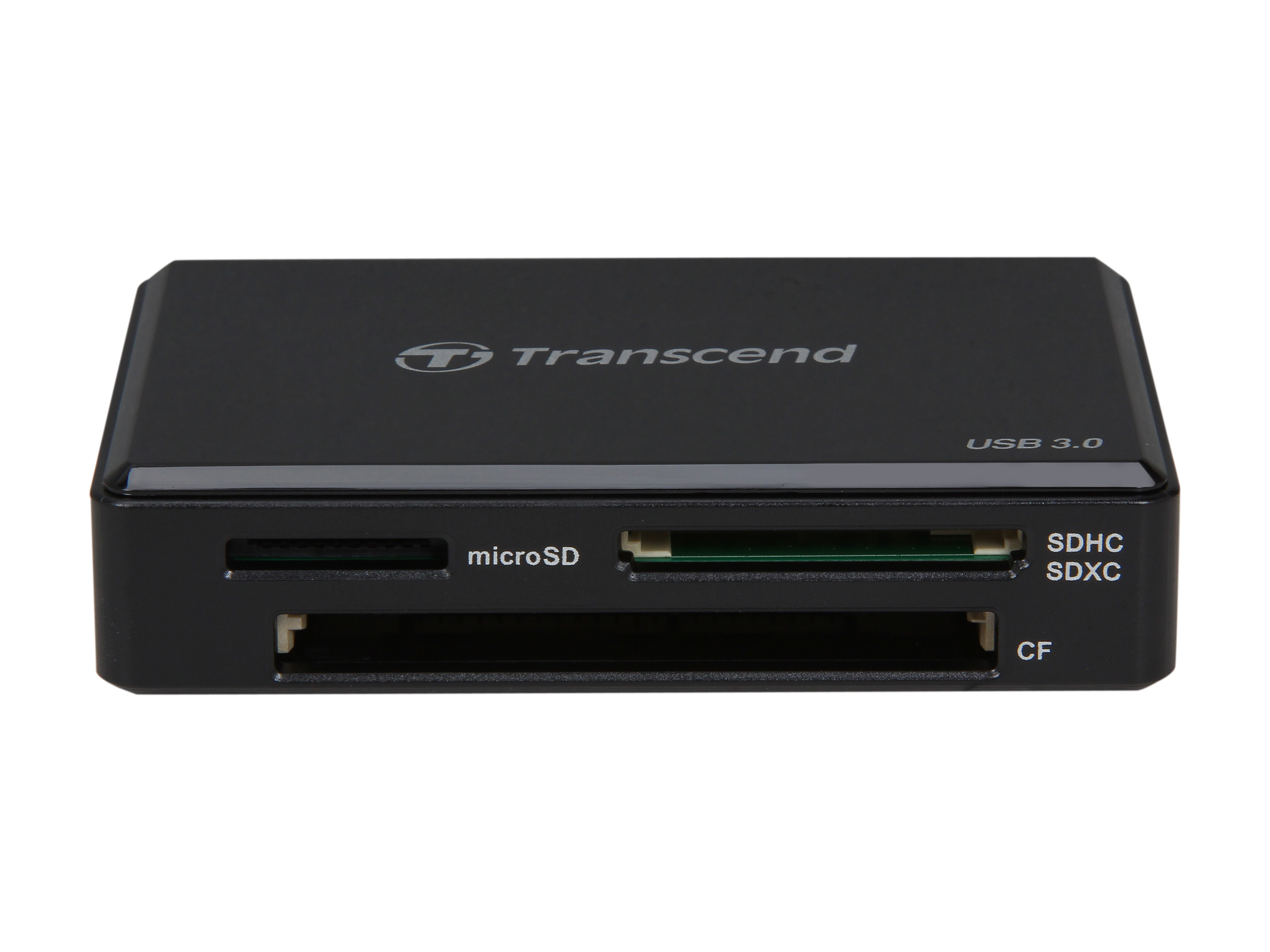 Transcend TS-RDF8K USB 3.0 Support SDHC/SDXC/UDMA6/UDMA7 CF and MSXC, with CF, SD, and Micro Slot   Flash Card Reader - Black