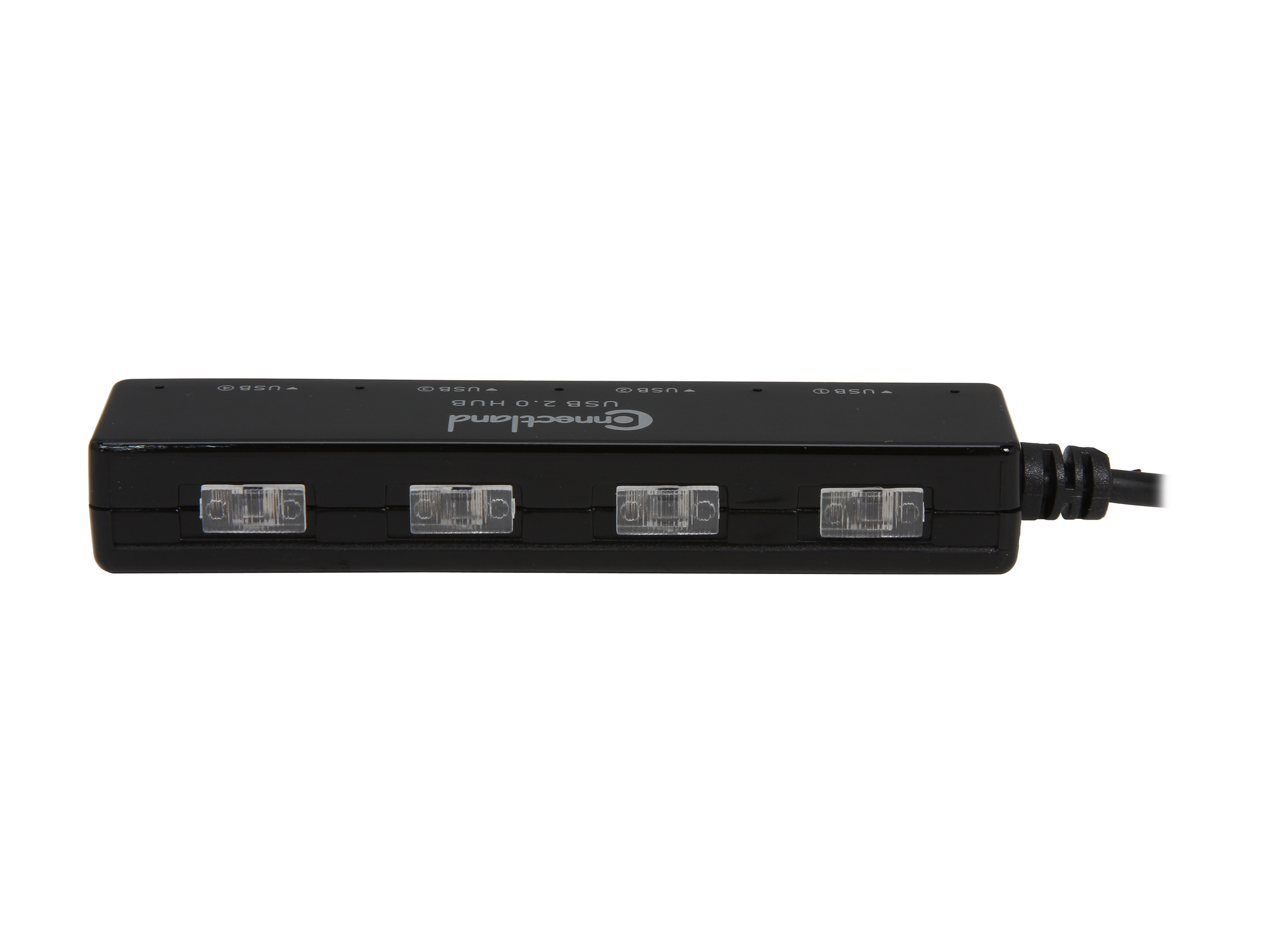 SYBA CL-HUB20132 USB 2.0 4 Ports Mini Hub with Built-in Power On/Off Switch for Each Port