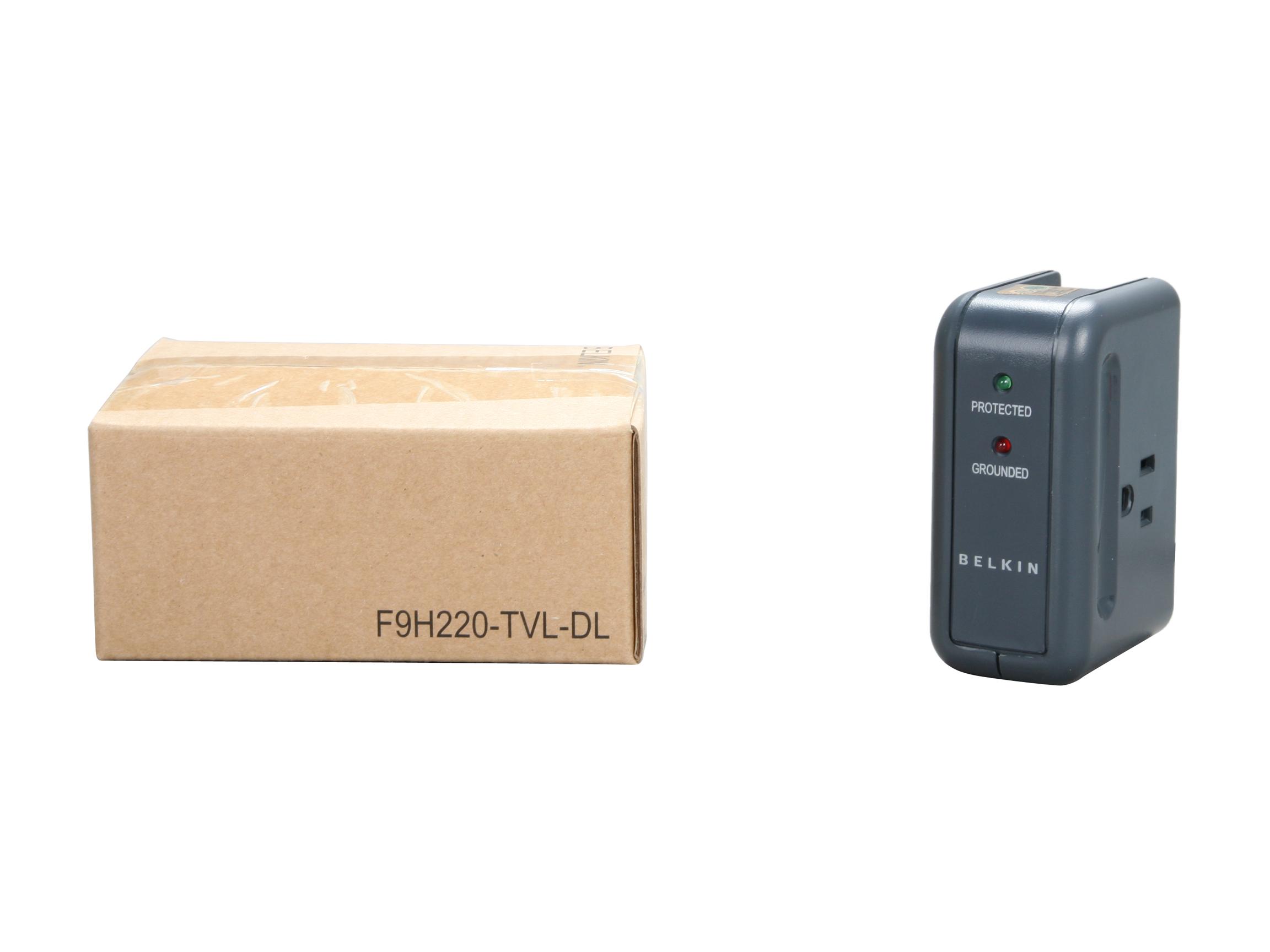Belkin 3-Outlet Mini Travel giratorio Cargador protector contra sobretensiones con puertos USB duales, 5 Outlets de carga