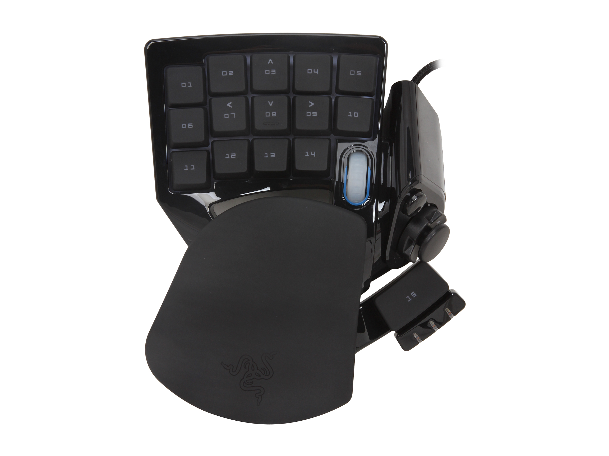Refurbished: RAZER Nostromo RZ07-00490100 16 fully programmable hyperesponse keys Normal Keys USB Wired Gaming Expert Gaming Keypad