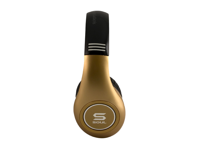 Soul by Ludacris SL300GG 3.5mm Connector Circumaural High Definition Noise Canceling Headphone - Gold and Gold