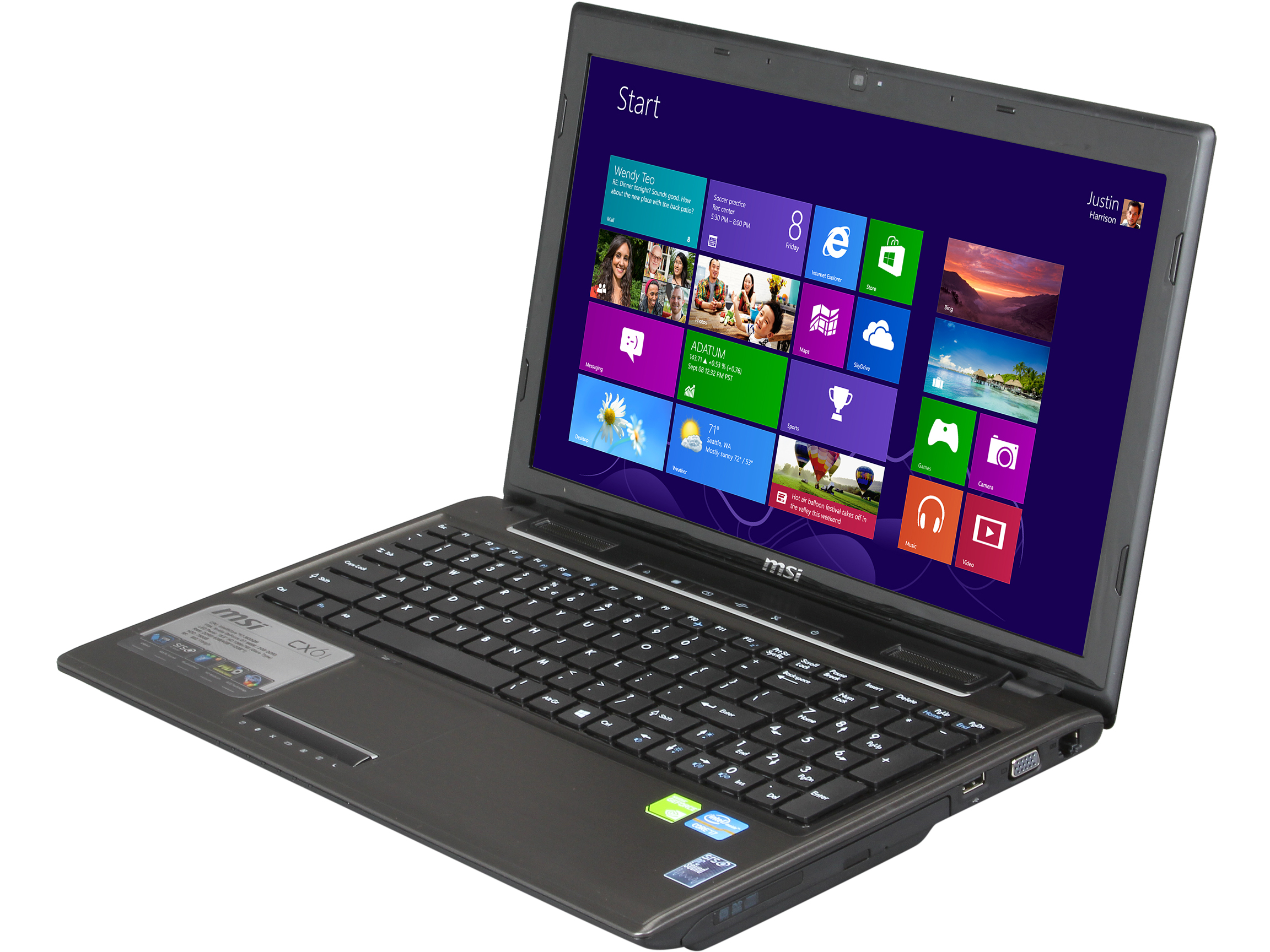 "MSI CX61 0NF-686MX Notebook Intel Core i7 3630QM (2.40GHz) 6GB Memory 750GB HDD NVIDIA GeForce GT 645M 15.6"" Windows 8"