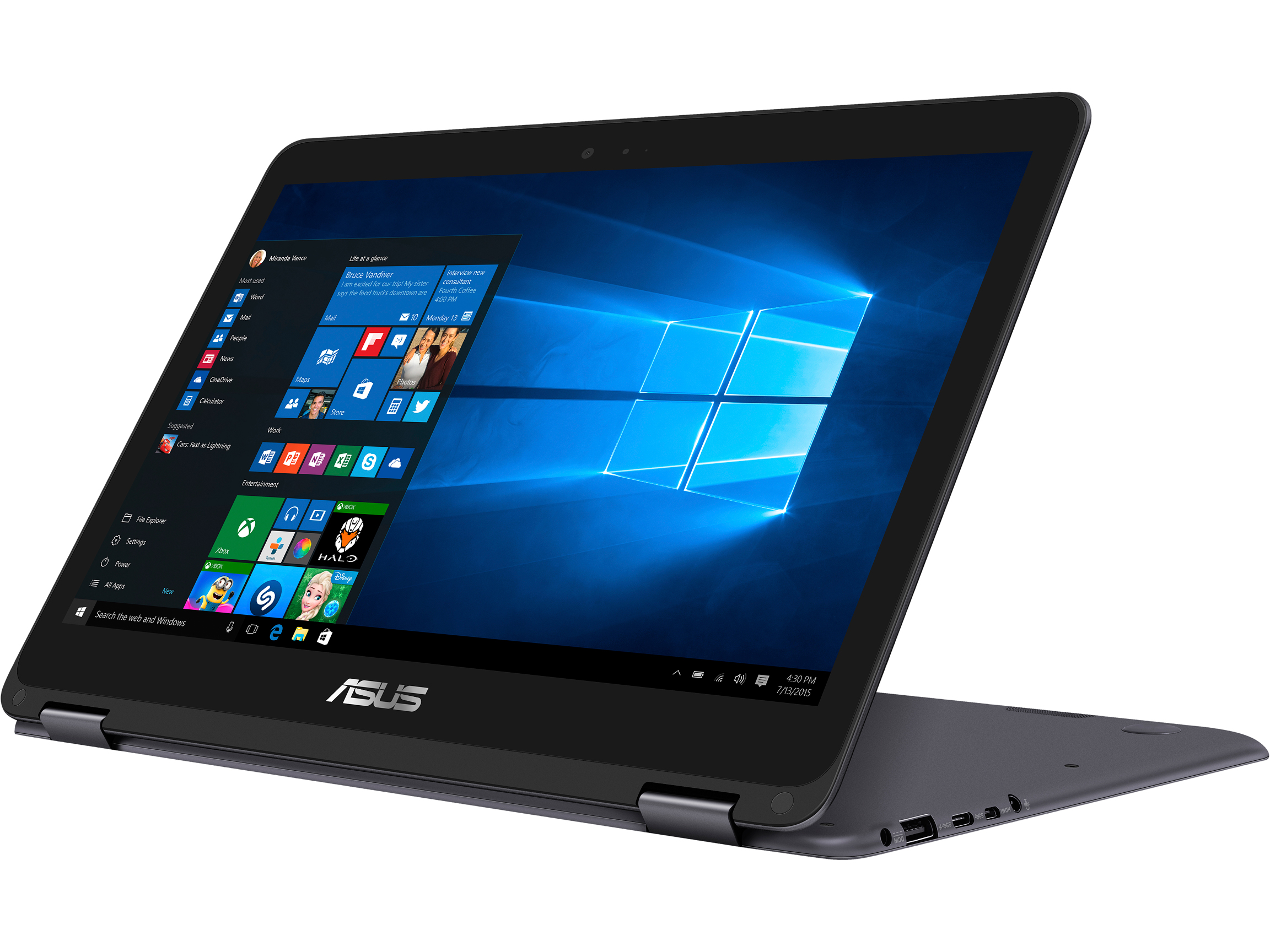 "Asus ZenBook Flip 13.3"" FHD Intel Core m3 Convertible Laptop"