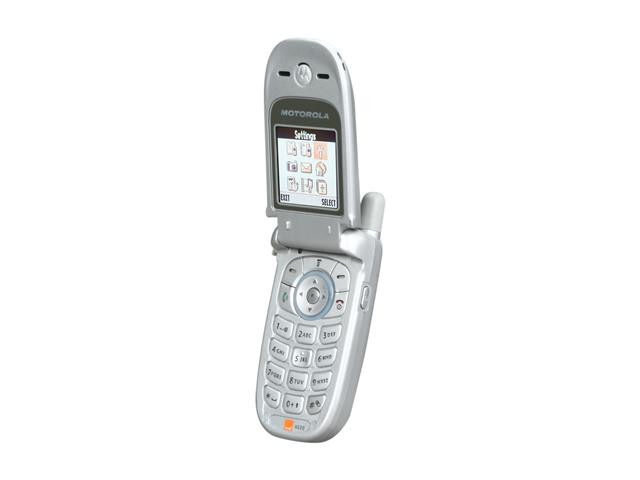 Motorola V220 Silver Unlocked GSM Flip Phone with  Ringtone Support