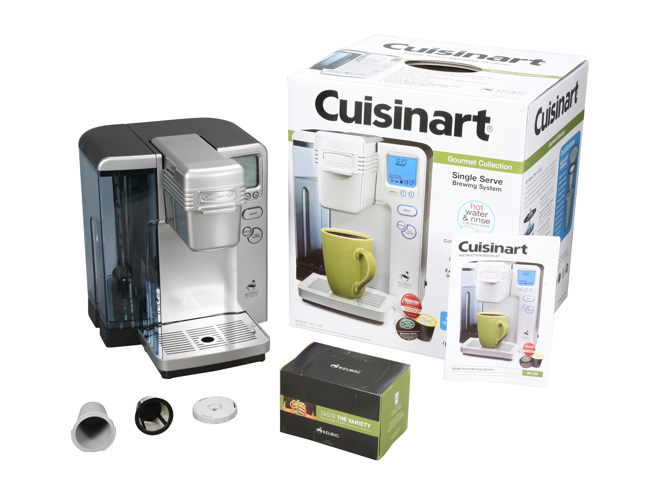 Cuisinart SS-700 Keurig K-Cups Single Serve Brewing System Silver