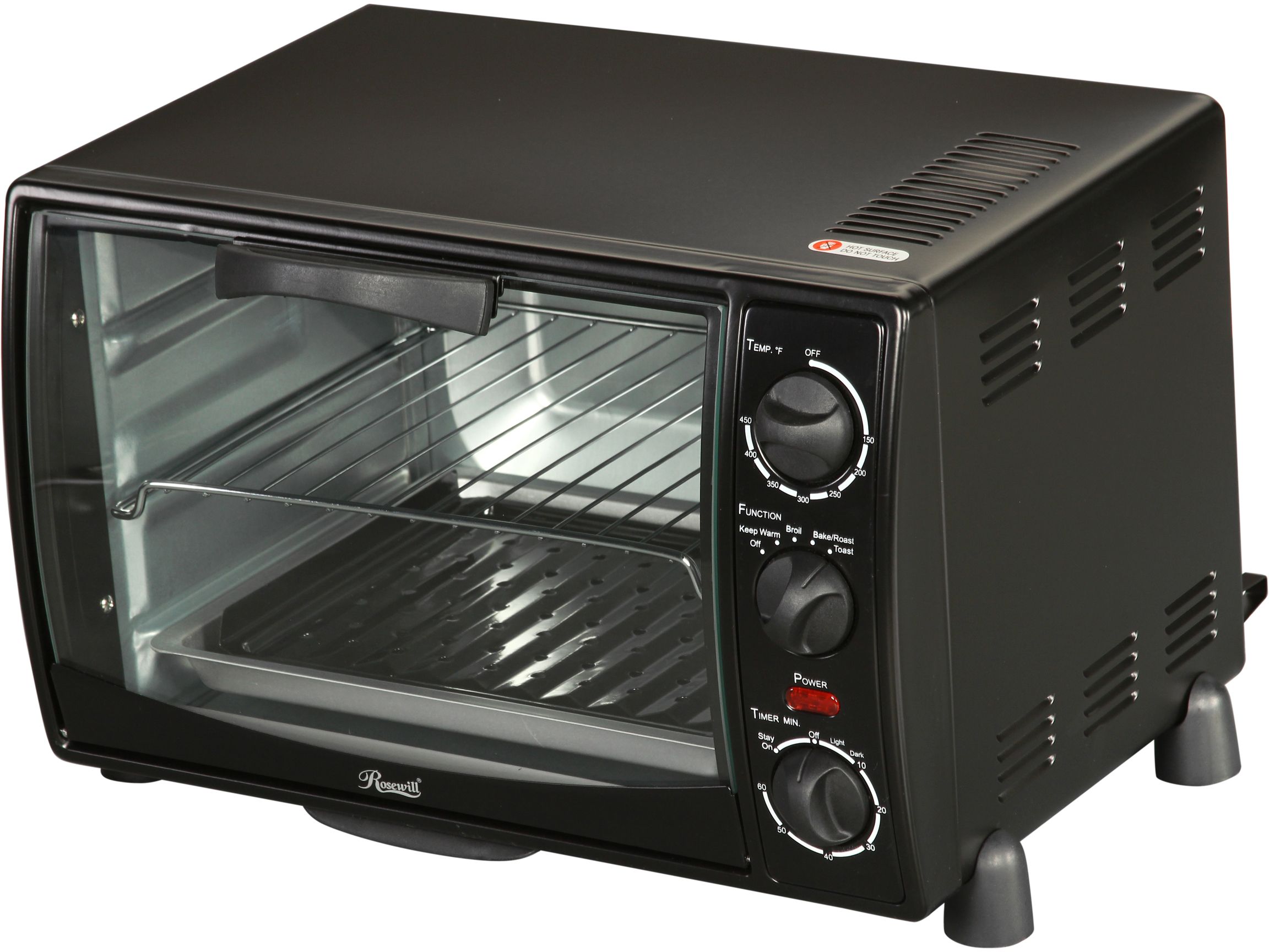 Rosewill Rosewill RHTO-13001 6 Slice Black Toaster Oven Broiler with Drip Pan
