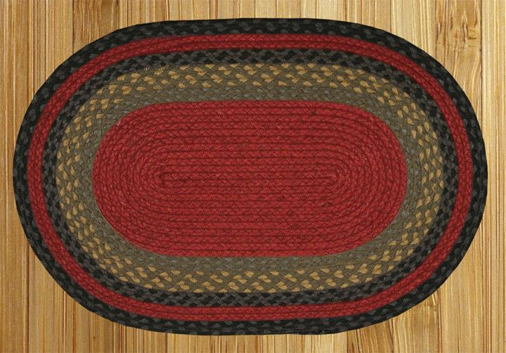 capitol earth rugs 04 238 burgundy olive charcoal jute braid