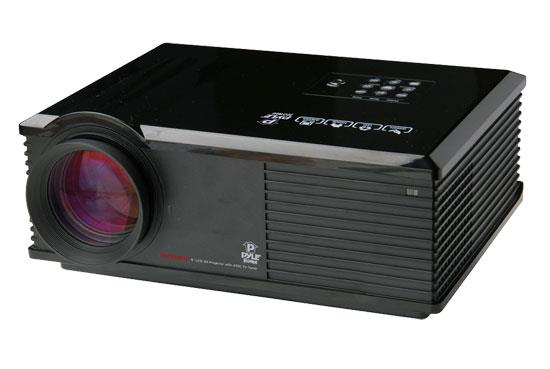 "Pyle PRJ3D99TU LED Widescreen Projector with Up To 120"" Viewing Screen, Built-In Speakers, & ATSC TV Tuner"