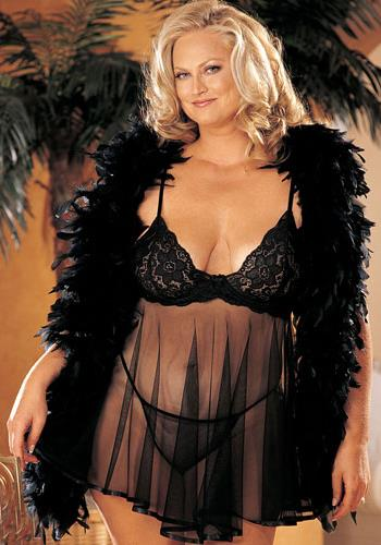 Women's Babydoll Stretch Lace And Net