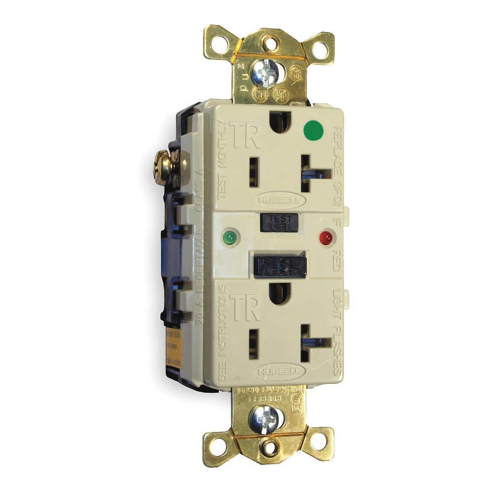 Hubbell Wiring Device Kellems Gfci Receptacle Gfr8300sgi