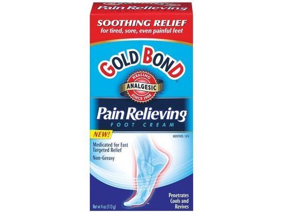 Gold Bond Foot Cream, Pain Relieving, 4 oz.
