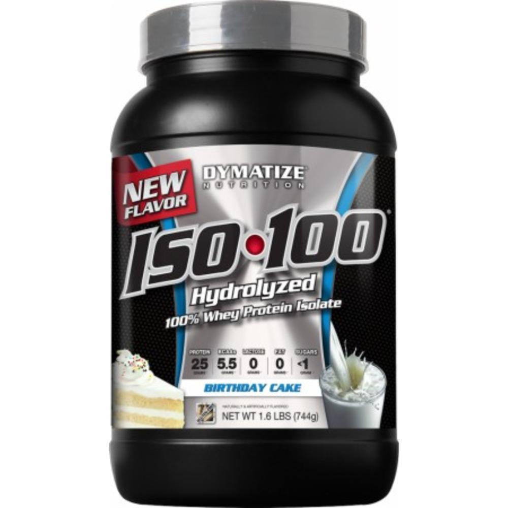 ISO 100 Hydrolyzed Whey Protein Isolate Birthday Cake 16 Lbs 744 Grams