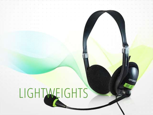 Ovann Headphone Computer PC Laptop Desktop Gaming MP3 Headphone Headset OV-T401MV Microphone Mic - Black & Green