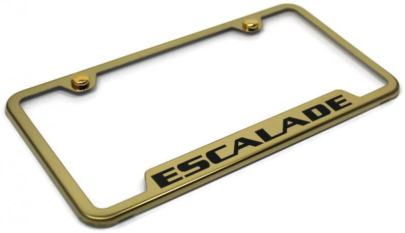 Cadillac Escalade License Plate Frame Laser Etched Stainless Steel 4 ...