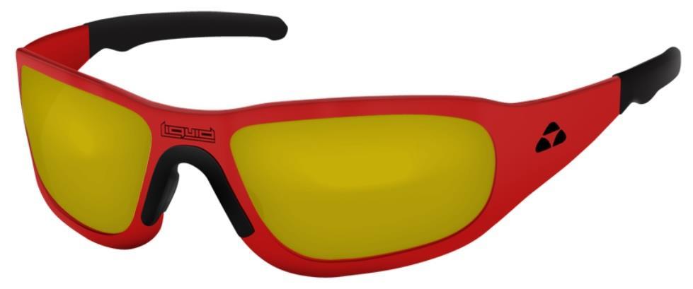 0994372c2732 Liquid Eyewear Titan RED   YELLOW Lens Hingeless Aluminum Sunglasses ...