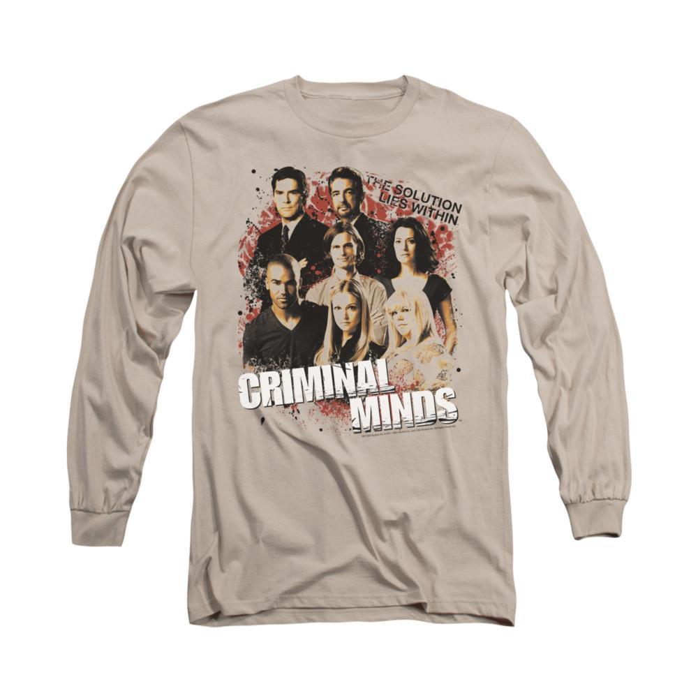 ba2fc47c6caa Criminal Minds Solution Lies Within Mens Long Sleeve Shirt on PopScreen