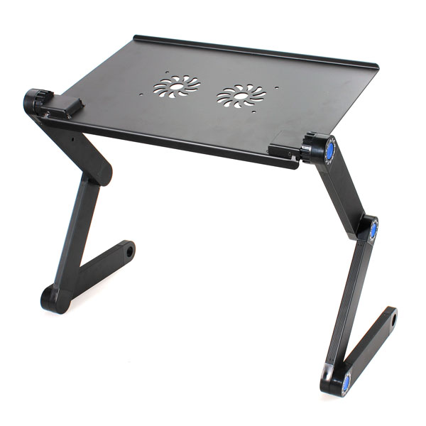 Folding Adjustable Vented Laptop/iPad/Book Desk Table Stand Portable Bed Tray