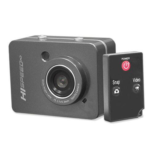 PyleSports - Hi-Speed HD 1080P Action Camera Hi-Res Digital Camera/Camcorder with Full HD Video, 12.0 Mega Pixel Camera & 2.4'' Touch Screen (Grey Color)