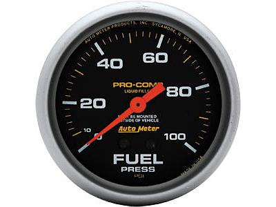 Auto Meter Pro Comp Liquid Filled Mechanical Fuel Pressure Gauge
