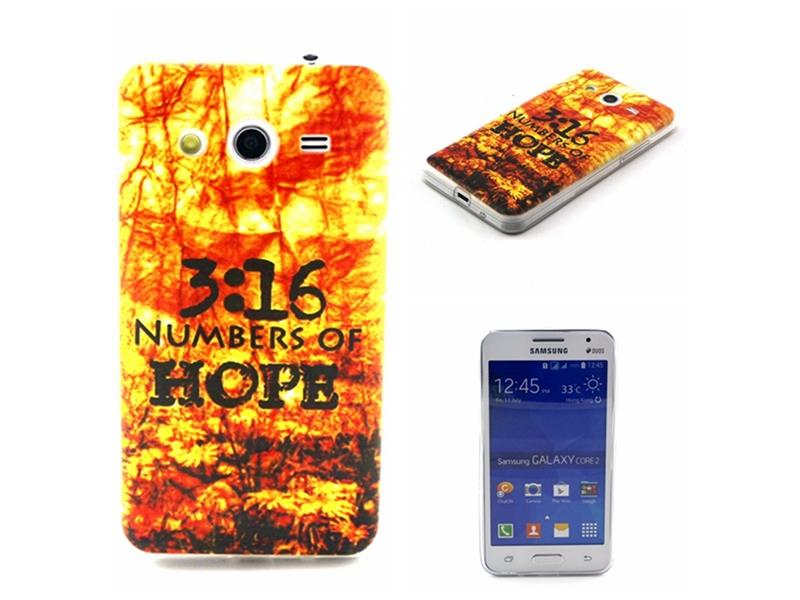Moonmini TPU Soft Back Case Cover Skin Shell for Samsung Galaxy Core 2 G355H (Numbers