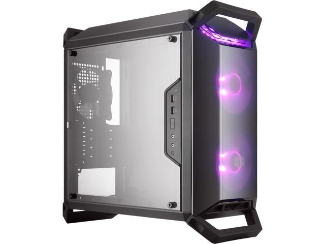 02463b0e6b6 Cooler Master MasterBox Q300P mATX Tower w/ Front & Top Dark Mirror Panel,  Transparent