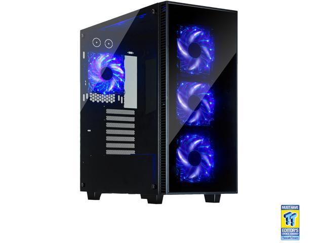 Atx Mid Tower Case With Side Panel Glass