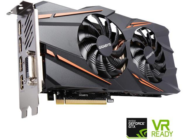 GIGABYTE GeForce GTX 1070 DirectX 12 GV-N1070WF2OC-8GD 8GB 256-Bit GDDR5 PCI Express 3.0 x16 ATX Video Card