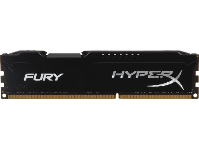 HyperX Fury Black Series 8GB 240-Pin DDR3 SDRAM DDR3 1600 (PC3 12800) Desktop Memory Model HX316C10FB/8
