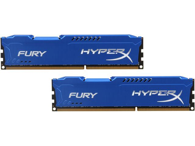 HyperX Fury Series 16GB (2 x 8GB) 240-Pin DDR3 SDRAM DDR3 1600 (PC3 12800) Desktop Memory Model HX316C10FK2/16
