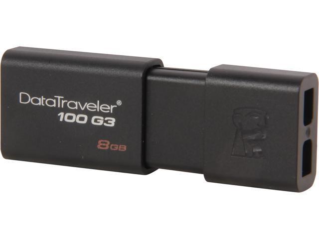 Kingston DataTraveler 100 G3 8GB USB 3.0 Flash Drive Model DT100G3/8GB
