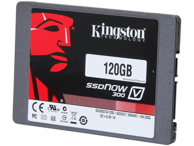 Kingston SSDNow V300 Series 2.5 inch 120GB SATA III Internal Solid State Drive (SSD) SV300S37A/120G