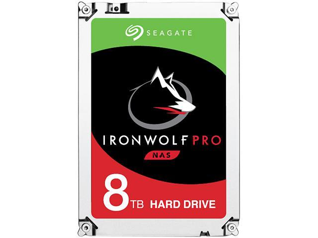 Seagate IronWolf Pro ST8000NE0021 8TB 7200 RPM 256MB Cache SATA 6.0Gb/s 3.5 inch Internal Hard Drive Bare Drive